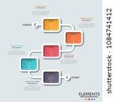flowchart. five colorful... | Shutterstock .eps vector #1084741412
