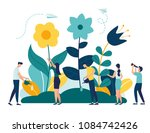 vector illustration of spring... | Shutterstock .eps vector #1084742426