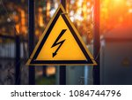 High Voltage Sign On A Fence ...