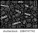 hand drawn photographic doodles ... | Shutterstock .eps vector #1084747742
