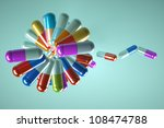 taking pills to choose from  in ... | Shutterstock . vector #108474788
