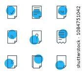 vector illustration of 9 file...