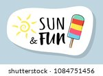 cute summer icon with funny... | Shutterstock .eps vector #1084751456