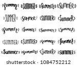 set of hand drawn summer... | Shutterstock .eps vector #1084752212