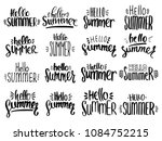 hello summer hand drawn... | Shutterstock .eps vector #1084752215