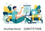 vector creative illustration of ... | Shutterstock .eps vector #1084757408