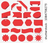 red discount sticker set.... | Shutterstock .eps vector #1084758275