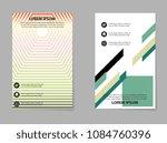 business brochure flyer. vector ... | Shutterstock .eps vector #1084760396
