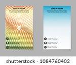 business brochure flyer. vector ... | Shutterstock .eps vector #1084760402
