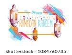 vector festive illustration.... | Shutterstock .eps vector #1084760735