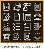 set of 16 file outline icons... | Shutterstock .eps vector #1084772165