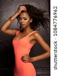 beautiful young african... | Shutterstock . vector #1084776962