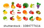 fruits and berries  set of... | Shutterstock .eps vector #1084777616