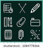 set of 9 tool outline icons... | Shutterstock .eps vector #1084778366