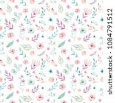 Stock photo cute watercolor unicorn seamless pattern with flowers nursery magical unicorn patterns princess 1084791512
