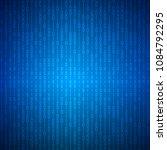 abstract stream of binary... | Shutterstock .eps vector #1084792295