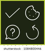 set of 4 round outline icons...   Shutterstock .eps vector #1084800446