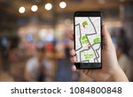 gps map to route destination... | Shutterstock . vector #1084800848