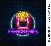 neon glowing sign of burger in... | Shutterstock .eps vector #1084804562