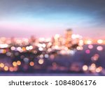blurred bokeh city night... | Shutterstock . vector #1084806176