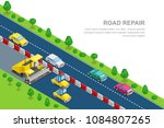 road repair and construction...   Shutterstock .eps vector #1084807265