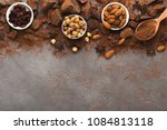 chocolate chunks on gray... | Shutterstock . vector #1084813118