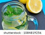close up of tasty beverage with ... | Shutterstock . vector #1084819256