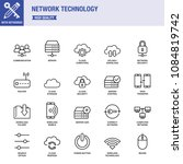 network technology line icon... | Shutterstock .eps vector #1084819742
