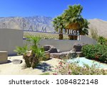 palm springs sign with desert... | Shutterstock . vector #1084822148