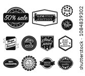 different label black icons in... | Shutterstock .eps vector #1084839302
