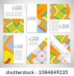 set of a4 cover  abstract...   Shutterstock .eps vector #1084849235