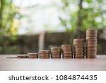 stack of money save money ... | Shutterstock . vector #1084874435