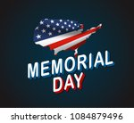 memorial day greeting card.... | Shutterstock .eps vector #1084879496
