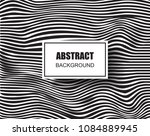 abstract wavy background with... | Shutterstock .eps vector #1084889945