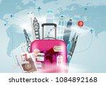 go travel concept. vector... | Shutterstock .eps vector #1084892168