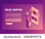 online shopping isometric... | Shutterstock .eps vector #1084894976