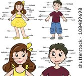 cartoon boy and girl.... | Shutterstock .eps vector #108489698