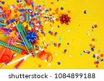 colorful party frame with... | Shutterstock . vector #1084899188