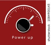 coffee power up concept red... | Shutterstock .eps vector #1084900145
