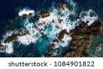 rocks and stony coast. sea... | Shutterstock . vector #1084901822