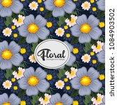 beautiful floral design. vector ...   Shutterstock .eps vector #1084903502