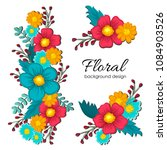 beautiful floral design. vector ...   Shutterstock .eps vector #1084903526