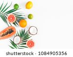 summer tropical composition.... | Shutterstock . vector #1084905356