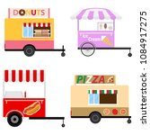 mobile carts for trade products.... | Shutterstock .eps vector #1084917275