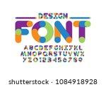 vector of modern abstract font...   Shutterstock .eps vector #1084918928