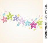 floral background. vintage... | Shutterstock .eps vector #108491936