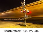 Railroad Crossing With Passing...