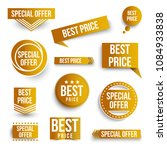 set of color special offer and... | Shutterstock .eps vector #1084933838