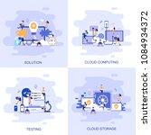 modern flat concept web banner...   Shutterstock .eps vector #1084934372