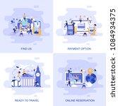 modern flat concept web banner... | Shutterstock .eps vector #1084934375